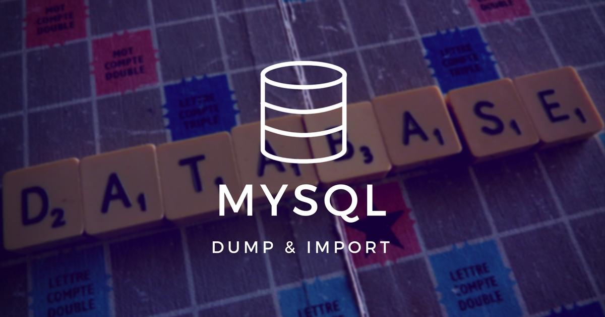 MySQL Dump oraz MySQL Import dla dużych zbiorów danych - DevEnv