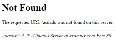 Apache 404 Page
