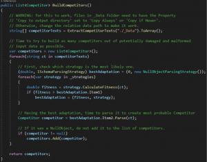 CompetitorFactory, metoda BuildCompetitors